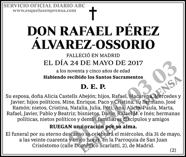 Rafael Pérez Álvarez-Ossorio